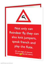Brainbox Candy Rude 'Clever Reindeer' Christmas Xmas Card funny cheeky humour
