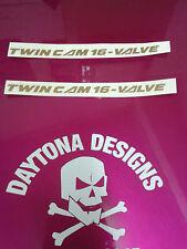 Twin Cam 16 válvulas par de gráficos personalizados Carenado Calcomanías Pegatinas Varios Colores