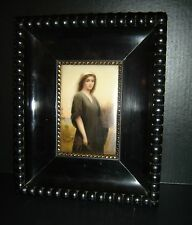 Antique Framed KPM Porcelain Plaque Biblical Ruth Painted by Wagner C.1875 Rare