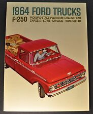 1964 Ford F-250 Pickup & Stake Truck Sales Brochure Excellent Original 64