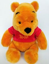 Winnie The Pooh Plush Disney Yellow Bear Stuffed Animal Doll Toy Red Shirt 12""