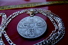 1920-1926 SILVER ENGLISH FLORIN your choice length .925 STERLING SILVER CHAIN