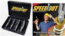 Ontel Speed Out Damaged Screw Extractor - As Seen on TV - Pro Grade - 4 pc Set!k
