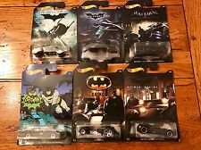 2017 Hot Wheels BATMAN Set of all 6 SIX Cars Walmart Exclusive TV Batmobile 1966
