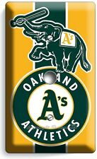 AS OAKLAND ATHLETICS BASEBALL TEAM LIGHT DIMMER CABLE WALL PLATE COVER BOYS ROOM