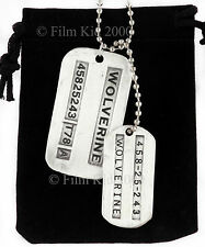 2 WOLVERINE ORIGINI DOG TAG grande e piccolo Set Militare MARVEL X-MEN Jame LOGAN