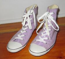 CONVERSE Chuck Taylor All-Star SLIM Hi Top lavender purple ladies 8 Preowned
