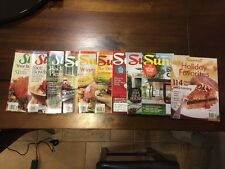 Sunset Magazine LOT of 10 2002-2014! Includes Holiday Favorites Special Issue