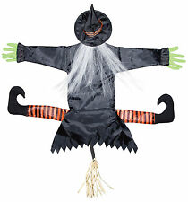 Wicked Witch Crashing Tree Trunk Decor Halloween Hanging Prop Decoration NEW
