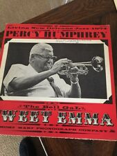 Vintage SIGNED 1974 New Orleans Preservation Jazz RECORD Percy Humphrey Sweet Em