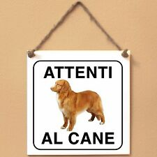 Nova Scotia Duck Tolling Retriever 4 Attenti al cane Targa cane cartello