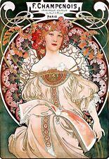 Art Deco Poster Alphonse Maria Mucha F Champenois Impri