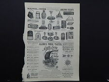 Illustrated London News Ads ONE Double-Sided Page c1887 S2#06 Mappin & Webb