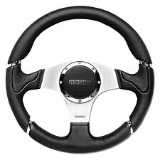 MOMO Millenium Steering Wheel - Leather - Black Inserts - 320mm