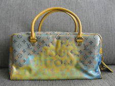 62% OFF! Ltd Ed Auth Louis Vuitton LV Bag Richard Prince Jaune Weekender PM Pulp