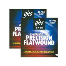 2-Pack GHS M3050 Precision Flatwound Long Scale Medium Plus Bass Strings 45-105