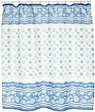 South Beach Fabric shower curtain, 100% polyester 70x72, color light blue NEW