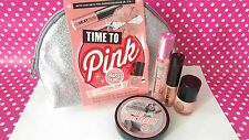 SOAP & GLORY TIME TO PINK GETS YOU GORGEOUS MAKE UP AND MAKE UP WASH BAG BNWT