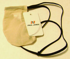 Mens Sheer Paul Jones brand Beige Stretchy G String Thong Pouch - Size M Medium