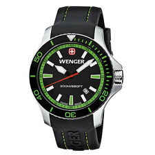 Wenger Sea Force Watch - Men's Green 200m - Sport - Analog Diver 01.0641.108 NIB