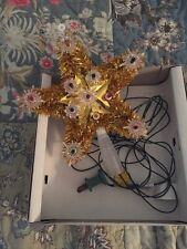 Vintage 1970's Noma Lite Tinsel Star 11 Lite - 6 Ft Cord RETRO Christmas Holiday