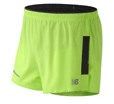 New Balance Men's Dry Impact 3 Inch Split Running Shorts Size L Neon Green NWT