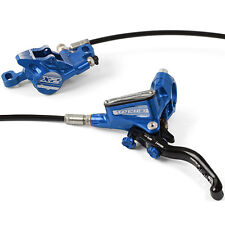 Hope Tech 3 X2 Blue Front & Rear Black Hose Brake Set - Brand New