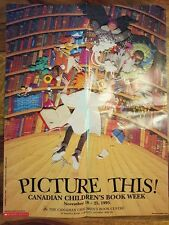 Vintage Canadian children's book week 1995 poster (scholastic)