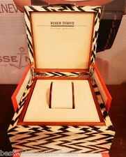 Roger Dubuis AUTHENTIC Horloger Genevois ZEBRA Wooden Watch Box Set