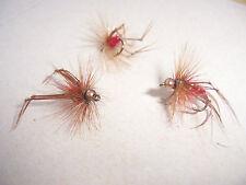 3 x Gambo Corto Oro Testa Rossa Hopper Taglia 12 S / S by salmoflies