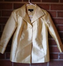 Talbots Petites Vintage-Inspired Blazer Silk Blended Wool Canary Yellow $229 4P