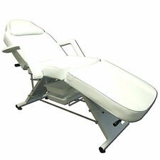 Salon SPA White Massage Bed Tattoo Chair Facial Adjustable Table Beauty basket
