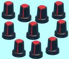 10pcs 6 x 15 x 17 Potentiometer Knob Inner 6mm External 15mm High 17mm de