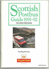 SCOTTISH POSTBUS GUIDE 1991-92 72 PAGE BOOKLET