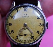 Mans Omega wristwatch WW 2 Period 1940 -41 running needs cleaning ,9396847