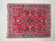 Antique SAROUK PERSIAN LILLIHAN  RUG - gorgeous red background soft pile