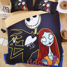 5D Nightmare Before Christmas Sally Pattern Duvet Cover Bedding Set Queen Size