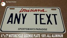 Personalized Louisiana Custom Aluminum Novelty State License Plate, MOTORCYCLE