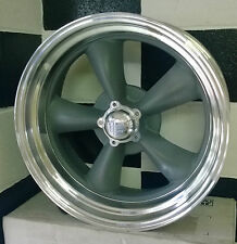 "18"" AMERICAN RACING GRAY CENTRE TORQ THUST II SUIT FORD, HQ, CHEV AND USA CARS"