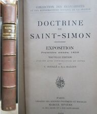 Doctrine Saint-Simon Exposition Iere annee 1829 Notes par Bougle et Halevy 1924