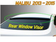 Black Rear Smoked Roof Spoiler Visor Vent K-987 For CHEVROLET 2013-2015 Malibu