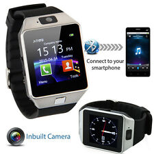 Bluetooth Smart Watch Montre Téléphone portable Appareil photo carte SIM pour