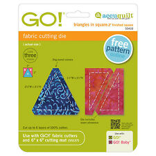 "AccuQuilt GO! & Baby Triangles in Square-2"" Finished Square Die 55410 Quilting"