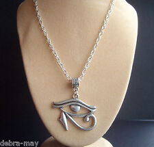 "Eye of Horus Eye of Ra Wedjat Protective Amulet Pendant 21"" Necklace ~ Gift Bag"