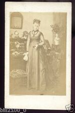 PHOTO CDV .. TENUE DE DEUIL .. DEUIL DE COEUR ...
