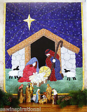 NATIVITY VINTAGE QUILT PATTERN CHRISTMAS HOLIDAY SANTA BABY JESUS APPLIQUE