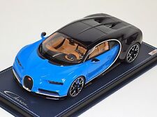 1/18 MR Collection Bugatti Chiron Le Patron/ Light Blue Sport on Leather Base
