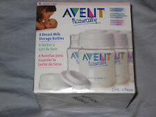 Avent Naturally 4 Breast Milk Storage Bottles SEALED