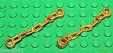 Lego 2x Pearl Gold Chain 5 Links (92338) NEW!!!
