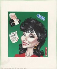 JOAN COLLINS - ORIGINAL ARTWORK drawn by Sean Lee 1996 For Sunday Paper C#60